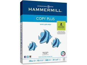 """Hammermill 105007PL Copy Plus Copy & Multipurpose Paper, Letter - 8.50"""" x 11"""" - 20 lb Basis Weight - 0% Recycled Content - 92 Brightness - 5000 / Carton - White"""