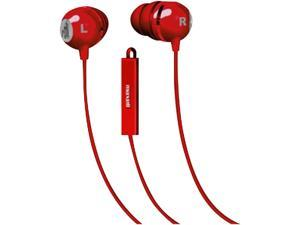 Maxell Classic Earbud with Mic Red