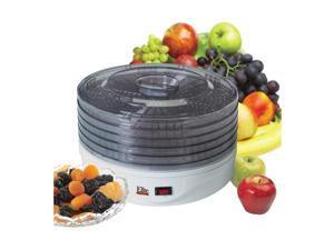 MaxiMatic EFD-1010 Elite Gourmet 5-Tray 135-Watt Rotating Food Dehydrator, White