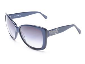 Just Cavalli Women's Classy Oversized Sunglasses Navy Blue