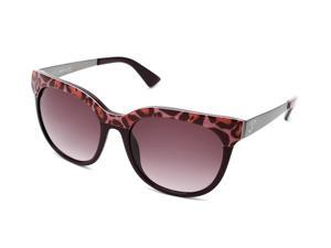 Just Cavalli Women's Round Frame Sunglasses Pink/Dark Red