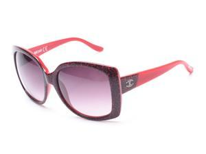 Just Cavalli Women's Oversized Cheetah Print Sunglasses Red Cheetah print