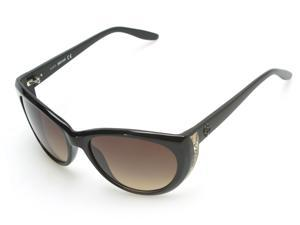 Just Cavalli Women's Cheetah Oversized Sunglasses Black