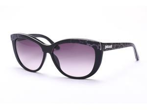 Just Cavalli Women's Cat Eye Sunglasses Black/Snow Leopard