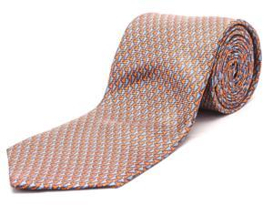 Ermenegildo Zegna Men Slim Silk Neck Tie Orange Blue