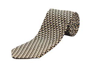 Ermenegildo Zegna Men Slim Silk Neck Tie Black Gold