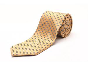 Ermenegildo Zegna Men Slim Silk Neck Tie Gold Navy