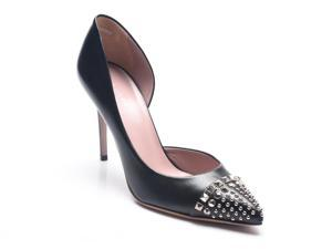 Gucci Women's Leather Stud Detail Pumps Black