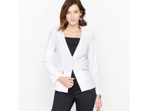 La Redoute Womens Comfortable Stretch Crepe Jacket White Size Us 8 - Fr 38