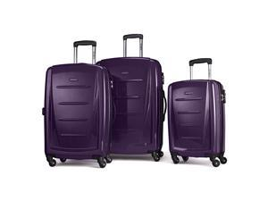 Samsonite Luggage Winfield 2 Fashion HS 3 Piece Set Purple