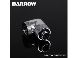 "Barrow G1/4"" 90 Degree Dual Rotary Adaptor Fitting - Silver (TWT90S-V2-Silver)"