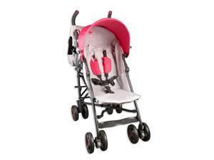 Baby Cargo Stroller Pink  #38; White Series 50 Deluxe Lightweight