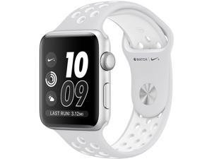 Apple Watch Nike+ 42mm Silver Aluminum Case with Pure Platinum White Nike  ...