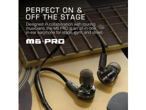 MEE audio M6 Pro Universal-Fit Noise-Isolating Musician's In-Ear Monitors with Detachable Cables (Smoke)