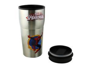 Marvel Spider-Man Stainless Steel Travel Coffee Mug Gift Set, 12 oz