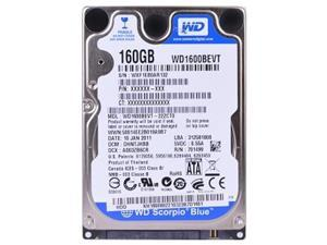 "Western Digital WD1600BEVT 160GB 5.4K RPM 2.5"""" 9.5mm,Silver"