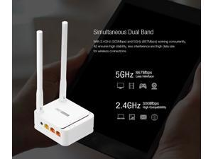 TOTOLINK AC1200 Mini Dual Band Wireless WiFi Router A3, up to 1167Mbps