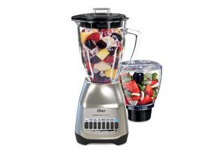 Oster Classic Series Blender PLUS Food Chopper - Nickel Plated - Glass Jar - NEW UPDATED LOOK! BLSTSG-CFP-000