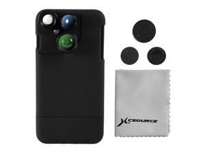 XCSOURCE 4in1 Wide Angle Macro Fisheye CPL Camera Lens Kit Black Case Cleaning Cloth for iPhone7 Plus DC751