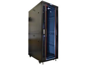 "42U 35"" Deep  IT Free Standing Server Rack Cabinet Enclosure. Fits Most 19"" Equipment. BONUS Free!!! Temperature Control System, Casters, LED-Screen, PDU and other accessories included"