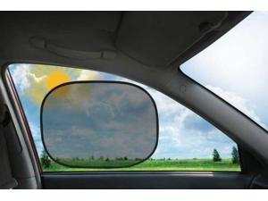 2pk Instant Cling Sunshades Car Window Shade Baby Kid Sun Visor Static Protector