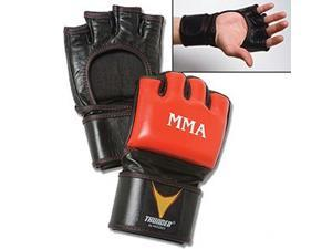 ProForce Thunder Leather MMA Gloves - Red/Black