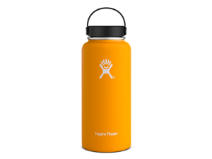 Hydro Flask 32 oz Vacuum Insulated Stainless Steel Water Bottle, Wide Mouth w/Flex Cap, Mango