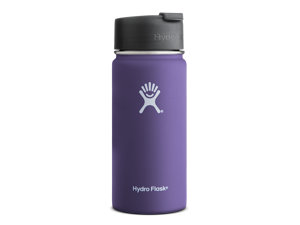 Hydro Flask 16 oz Vacuum Insulated Stainless Steel Water Bottle, Wide Mouth w/Hydro Flip Cap, Plum