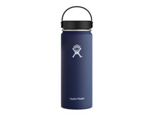 Hydro Flask 18 oz Vacuum Insulated Stainless Steel Water Bottle, Wide Mouth w/Flex Cap, Cobalt
