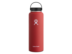 Hydro Flask 40 oz Vacuum Insulated Stainless Steel Water Bottle, Wide Mouth w/Flex Cap, Lava