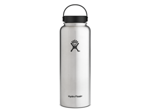 Hydro Flask 40 oz Vacuum Insulated Stainless Steel Water Bottle, Wide Mouth w/Flex Cap, Stainless