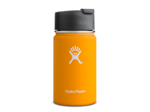 Hydro Flask 12 oz Vacuum Insulated Stainless Steel Water Bottle, Wide Mouth w/Hydro Flip Cap, Mango