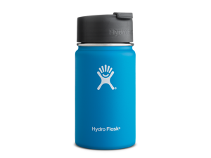 Hydro Flask 12 oz Vacuum Insulated Stainless Steel Water Bottle, Wide Mouth w/Hydro Flip Cap, Pacific
