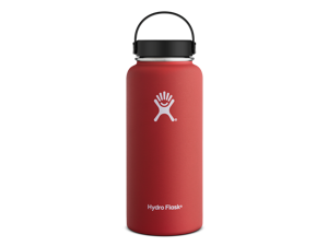 Hydro Flask 32 oz Vacuum Insulated Stainless Steel Water Bottle, Wide Mouth w/Flex Cap, Lava