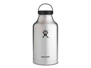 Hydro Flask 64 oz Vacuum Insulated Stainless Steel Beer Growler/Water Bottle, Wide Mouth w/Flex Cap, Stainless