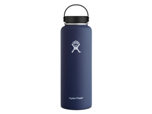 Hydro Flask 40 oz Vacuum Insulated Stainless Steel Water Bottle, Wide Mouth w/Flex Cap, Cobalt
