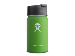 Hydro Flask 12 oz Vacuum Insulated Stainless Steel Water Bottle, Wide Mouth w/Hydro Flip Cap, Kiwi
