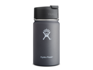 Hydro Flask 12 oz Vacuum Insulated Stainless Steel Water Bottle, Wide Mouth w/Hydro Flip Cap, Graphite