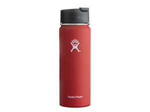 Hydro Flask 20 oz Vacuum Insulated Stainless Steel Water Bottle, Wide Mouth w/Hydro Flip Cap, Lava