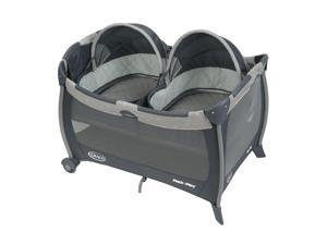 Graco Pack 'N Play Playard with Twin Bassinets, Gray