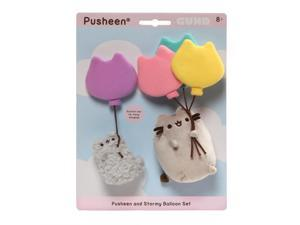 Gund Pusheen and Stormy with Balloons Plush Toy Cat Set Stuffed Toy