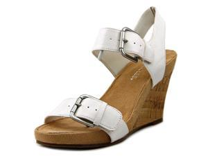Aerosoles Mega Plush Women US 10 White Wedge Sandal