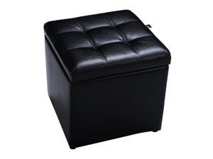 Cube Ottoman Pouffe Storage Box Lounge Seat Footstools with Hinge Top