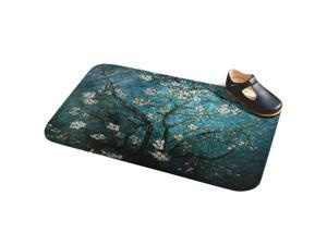 80CM*49CM Floor Mat Cherry Printed Bathroom Kitchen Living Room Carpets Doormats Floor Mat Anti-Slip Tapete