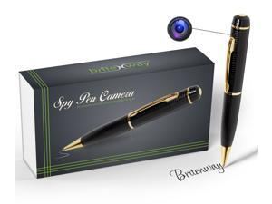Spy Pen Camera - Tech Gadget, 1280x720 High Resolution DVR, Video Camcorder, Webcam, Pictures & Audio - Mini Hidden Security & Surveillance Secret Agent with free 8 GB SD Card