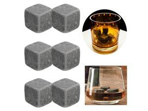6pcs Whisky Stones Drinks Cooler Cubes Whiskey Rocks Granite Ice Stones