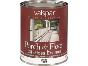 Valspar 1000 Multi-Purpose Oil-Based Porch and Floor Enamel Paint, 1 qt Can, 500 sq-ft/gal, White, Solvent Like