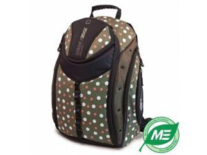 Mobile Edge MEBPE9D ECO Backpack Green with Dots