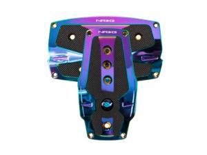 NRG Innovations PDL-250MC Neochrome Aliminum Sport Pedal with Black Rubber Inserts AT