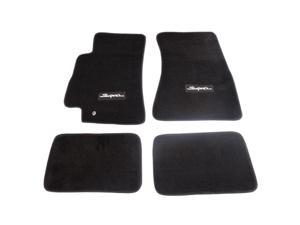 NRG Innovations FMR-300 4 Piece Floor Mats for 96-02 Toyota Supra with Supra Logo